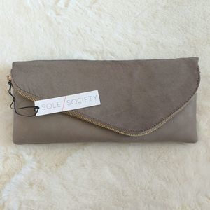 Sole Society Tammi Taupe Clutch